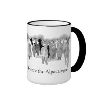 Beware the Alpacalypse - Funny Nerd Corny Humour Mug