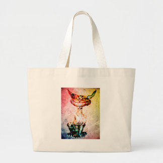 BEWARE THE CHESIRE GRIN LARGE TOTE BAG