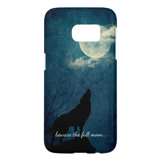 Beware the Full Moon Howling Wolf Samsung Galaxy S7 Case