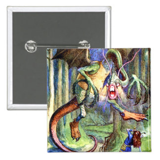 Beware the Jabberwock, My Son. The Jaws That Bite 2 Inch Square Button