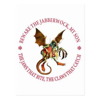 Beware the Jabberwock, My Son. The Jaws That Bite Postcard