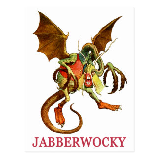 BEWARE THE JABBERWOCK MY SON, THE JAWS THAT BITE POSTCARD