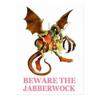 BEWARE THE JABBERWOCK, MY SON, THE JAWS THAT BITE POSTCARD