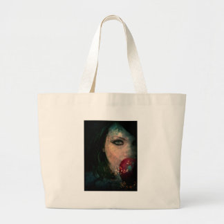 BEWARE THE POISEN APPLE LARGE TOTE BAG
