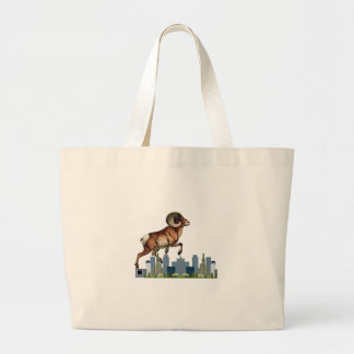 Beware the Ram Large Tote Bag