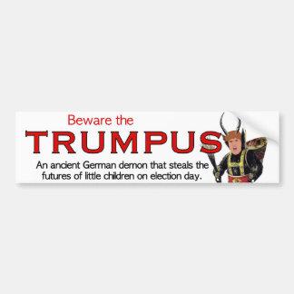Beware the Trumpus!  Large Trumpus Bumper Sticker