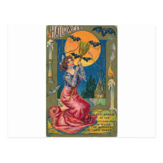 Beware the Witching Hour! Postcard