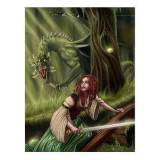 Beware the Woods Postcard
