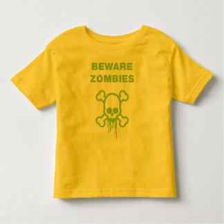 Beware Zombies T-shirt - Toddler Yellow Tee
