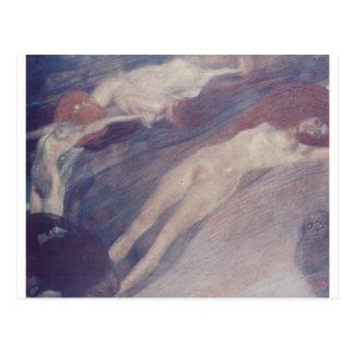 Bewegte Wasser by Gustav Klimt Postcard