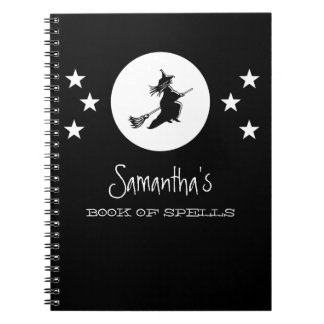 Bewitching Halloween Notebook, Black Notebooks