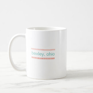 Bexley, Ohio Ceramic Mug, Mint & Burnt Orange Coffee Mug