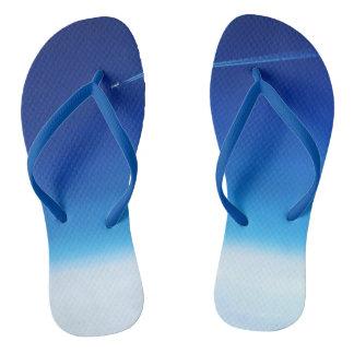 Beyond Limits Adult Flip Flops, Slim Straps, Blue Flip Flops