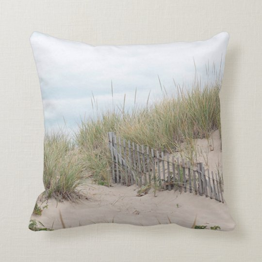 Beyond the sand dunes throw pillow