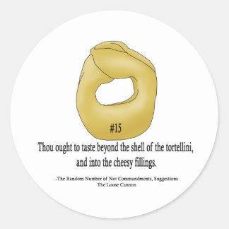 Beyond the Shell Round Sticker