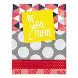 BeYOUtiful flat card