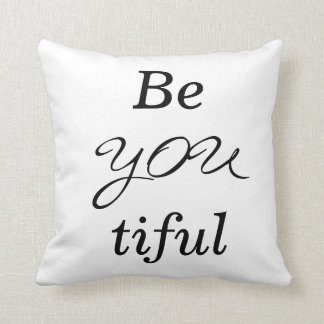 BeYOUtiful Text Decor Throw Pillow