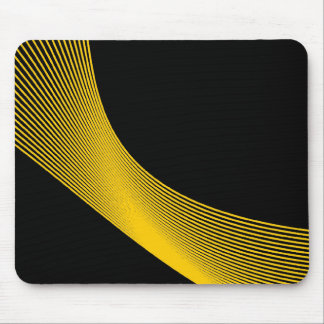 Bézier Curves - Amber on Black Mouse Pad
