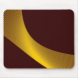 Bézier Curves - Amber on Dark Brown 330000 Mouse Pad