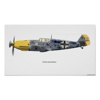 BF-109E Flown By Ge. Galland, 1940 Poster