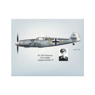 BF-109G Franz Stigler Profile Canvas Print
