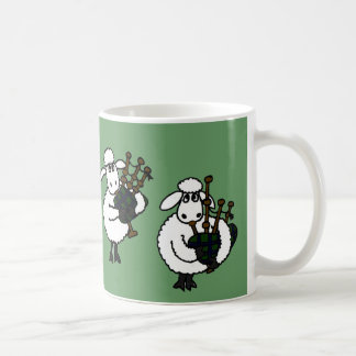 BF- Awesome Sheep Playing Bagpipes Classic White Coffee Mug