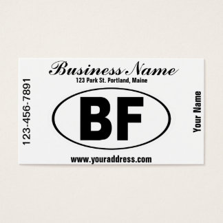 BF Beaver Falls Pennsylvania Business Card