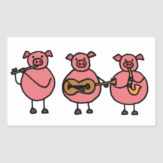 BF- Three Little Musical Pigs Sticker