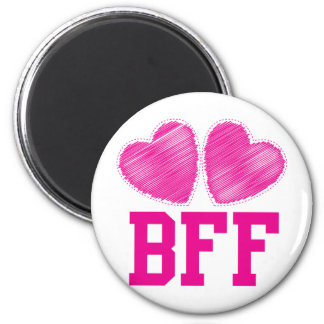 BFF Best Friends forever with love hearts Magnets