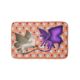 BFF Butterfly Dragon Bath Mat