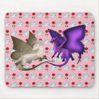 BFF Butterfly Dragon Mouse Pad