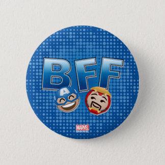 BFF Captain America & Iron Man Emoji 2 Inch Round Button