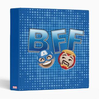 BFF Captain America & Iron Man Emoji Binder