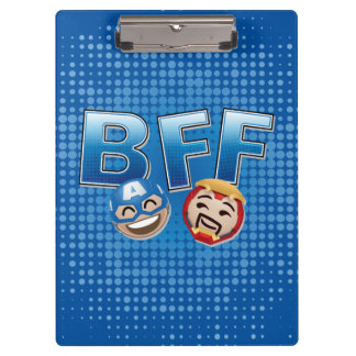 BFF Captain America & Iron Man Emoji Clipboard
