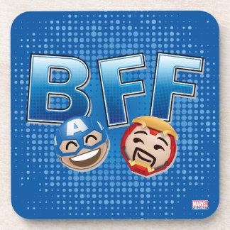 BFF Captain America & Iron Man Emoji Coaster