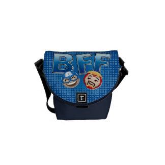 BFF Captain America & Iron Man Emoji Courier Bag