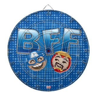 BFF Captain America & Iron Man Emoji Dartboards