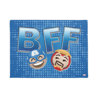 BFF Captain America & Iron Man Emoji Doormat