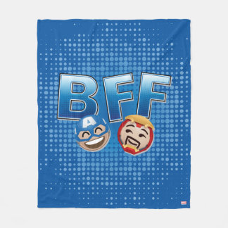 BFF Captain America & Iron Man Emoji Fleece Blanket