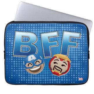 BFF Captain America & Iron Man Emoji Laptop Sleeve