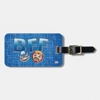 BFF Captain America & Iron Man Emoji Luggage Tag