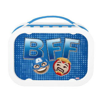 BFF Captain America & Iron Man Emoji Lunch Boxes