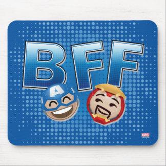 BFF Captain America & Iron Man Emoji Mouse Pad