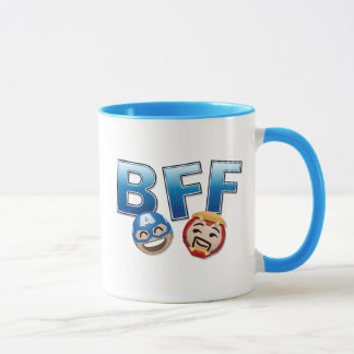 BFF Captain America & Iron Man Emoji Mug