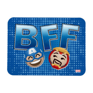 BFF Captain America & Iron Man Emoji Rectangular Photo Magnet