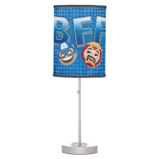 BFF Captain America & Iron Man Emoji Table Lamp