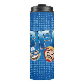BFF Captain America & Iron Man Emoji Thermal Tumbler