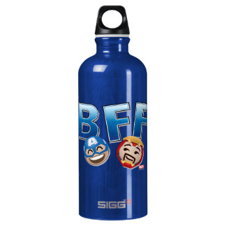 BFF Captain America & Iron Man Emoji Water Bottle