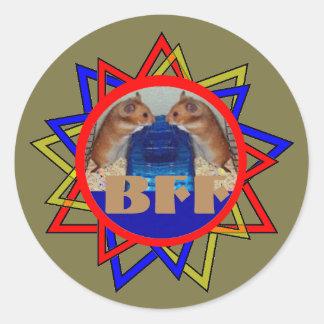 BFF CLASSIC ROUND STICKER