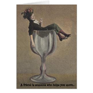 BFF defined humor LOL Lady Friendship Secrets Card